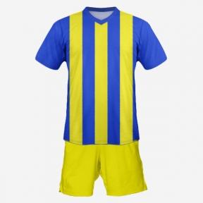 Футбольная форма Playfootball (blue-yellow-2)