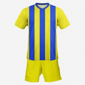 Футбольная форма Playfootball (blue-yellow-3)