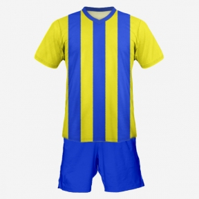 Футбольная форма Playfootball (blue-yellow-4)
