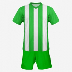 Футбольная форма Playfootball (green-white-2)