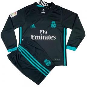 Детская футбольная форма Реал Мадрид 2017/2018 stadium выездная с длинным рукавом
