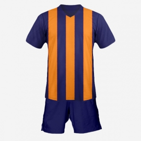 Футбольная форма Playfootball (orange-darkblue)