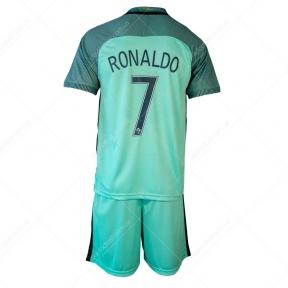 Детская футбольная форма Португалия Роналдо выезд (Роналдо JR выезд 2016)
