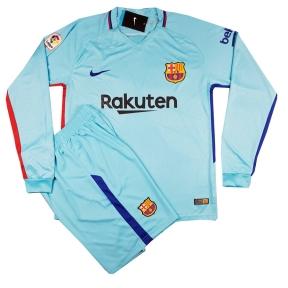 Детская футбольная форма Барселона 2017/2018 stadium выездная с длинным рукавом