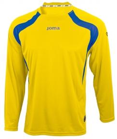 Футболка Joma Champion желтая (длинный рукав)