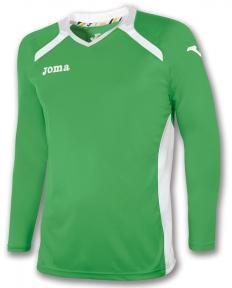 Футболка Joma Champion II зеленая (длинный рукав)