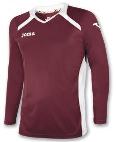 Футболка Joma Champion II бордовая (длинный рукав)
