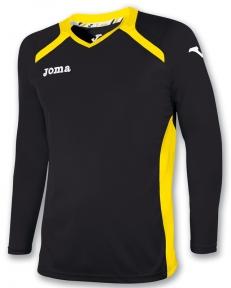 Футболка Joma Champion II черная (длинный рукав)