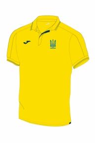 Футболка сборной Украины Joma поло желтая