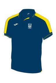 Футболка сборной Украины Joma поло темно-синяя