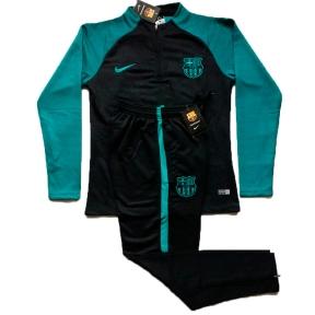 Тренировочный спортивный костюм Барселоны 2016/2017 черно-зеленый