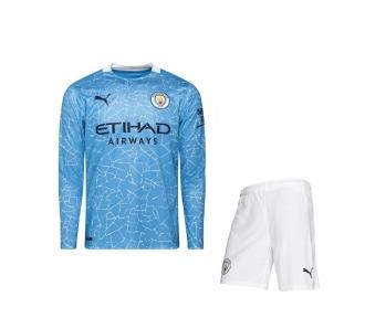 Футбольная форма Манчестер Сити с длинным рукавом 2020/2021 stadium домашняя