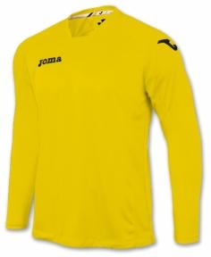 Футболка Joma Fit One желтая (длинный рукав)