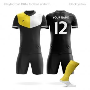 Футбольная форма Playfootball Elite black-yellow