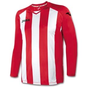 Футболка Joma Pisa 12 красно-белая (длинный рукав)