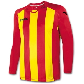 Футболка Joma Pisa 12 красно-желтая (длинный рукав)