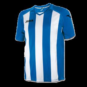 Футболка Joma Pisa 12 бело-голубая