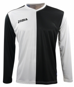 Футболка Joma Premier черно-белая (длинный рукав)