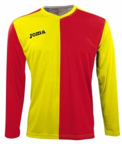 Футболка Joma Premier желто-красная (длинный рукав)