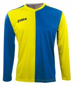 Футболка Joma Premier желто-синяя (длинный рукав)