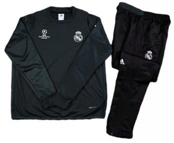 Тренировочный спортивный костюм Реал Мадрид 2016/2017 black