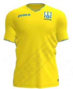 Футболка сборной Украины Joma игровая желтая - 2018 (FFU101011.18)