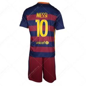 Детская форма Барселоны 2015/16 Месси (барса JR home 15-16)