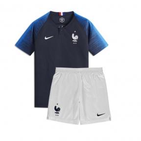 Детская футбольная форма сборной Франции Чемпионат Мира 2018 синяя