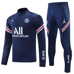 Тренировочный спортивный костюм ПСЖ 2021/2022 темно-синий