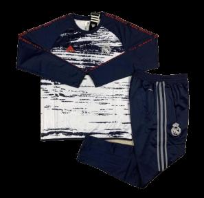 Тренировочный спортивный костюм Реала 2020 темно-синий