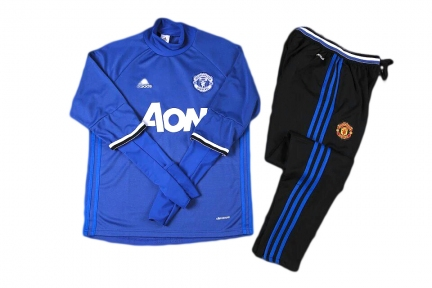 Тренировочный спортивный костюм Манчестер Юнайтед 2016/2017 синий