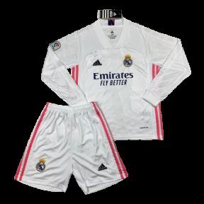 Детская футбольная форма Реал Мадрид с длинным рукавом 2020/2021 stadium домашняя