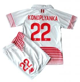 Детская футбольная форма Севилья Коноплянка белая 2015/2016