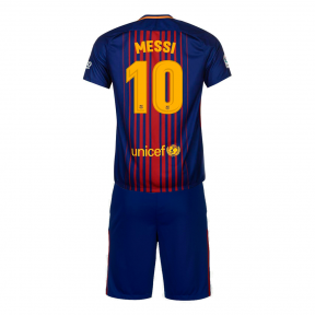 Детская футбольная форма Барселона 2017/2018 Месси домашняя
