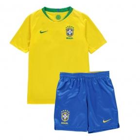 Детская футбольная форма сборной Бразилии Чемпионат Мира 2018 желтая