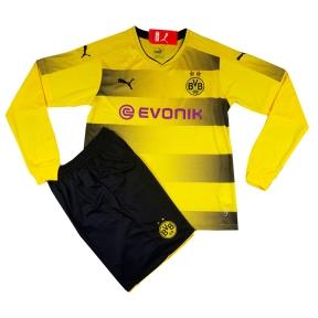 Детская футбольная форма Боруссии Дортмунд 2017/2018 stadium домашняя с длинным рукавом