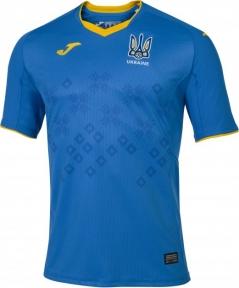 Футбольная форма сборной Украины Joma 2020 игровая футболка синяя (FFU101012.20)