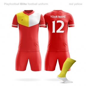 Футбольная форма Playfootball Elite red-yellow