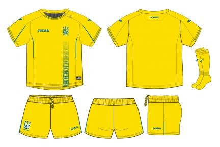 Детская футбольная форма cборной Украины Joma Home Baby Kit