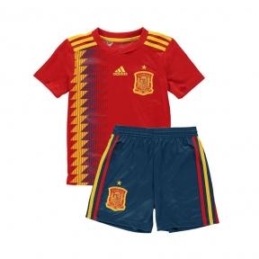 Детская футбольная форма сборной Испании Чемпионат Мира 2018 красная