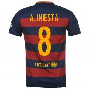 Футболка Barcelona home stadium 2015/16 A.INIESTA 8