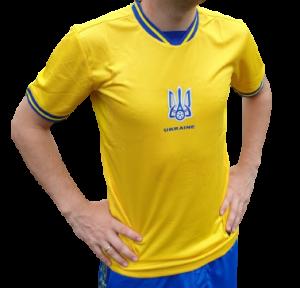 Футбольная форма сборной Украины Евро 2020 для болельщиков (футболка желтая)