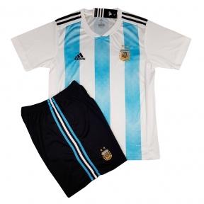Детская футбольная форма сборной Аргентины Чемпионат Мира 2018 бело-голубая