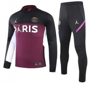 Тренировочный спортивный костюм ПСЖ 2021/2022 черно-вишневый