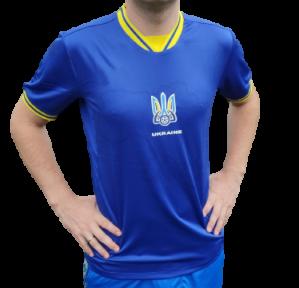Футбольная форма сборной Украины Евро 2020 для болельщиков (футболка синяя)