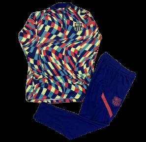 Детский тренировочный спортивный костюм Барселоны 2021/2022 разноцветный