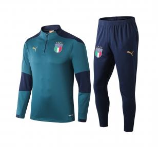 Тренировочный спортивный костюм сборной Италии 2020 зеленый