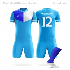 Футбольная форма Playfootball Elite lightblue-blue
