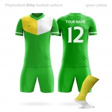 Футбольная форма Playfootball Elite green-yellow