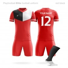 Футбольная форма Playfootball Elite red-black